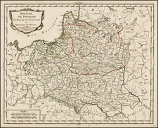 Poland and Baltic Countries Map By Pierre Bourgoin