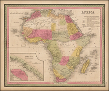 Africa and Africa Map By Samuel Augustus Mitchell
