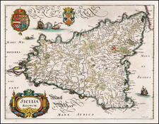 Italy and Balearic Islands Map By Matthaeus Merian