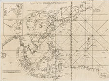 China, Japan, Korea, India, Southeast Asia, Philippines and Other Islands Map By Melchisedec Thevenot