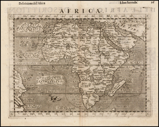 Africa and Africa Map By Girolamo Ruscelli / Giovanni Botero