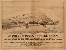 New England and Massachusetts Map By Forbes & Co.