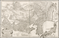 China, Japan, Korea and Central Asia & Caucasus Map By Jean-Baptiste Bourguignon d'Anville