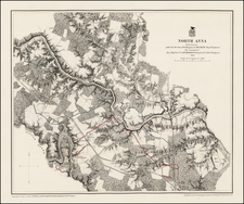 Virginia and Civil War Map By United States War Dept.
