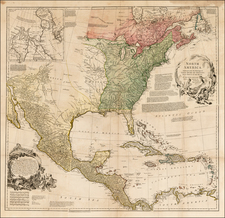 United States and North America Map By Richard William Seale