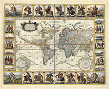 World and World Map By Claes Janszoon Visscher