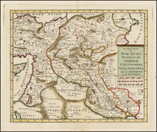Central Asia & Caucasus, Middle East and Turkey & Asia Minor Map By Giambattista Albrizzi