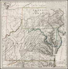 Mid-Atlantic, Southeast and Midwest Map By Thomas Jefferson