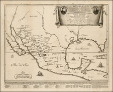 South, Texas, Southwest, Mexico, Baja California and California Map By Giovanni Petroschi / Jose Antonio de Sylverio Villaseñor y Sánchez