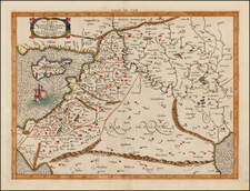 Balearic Islands, Central Asia & Caucasus, Middle East and Holy Land Map By  Gerard Mercator