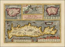[Crete / Corsica / Sardinia]  Corsica [and] Sardinia [and] Creta . . . [and] Insulae Mari Ionii By Abraham Ortelius