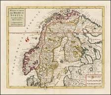 Scandinavia and Sweden Map By Giambattista Albrizzi