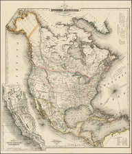 United States, North America and California Map By J. Calvin Smith / John Disturnell