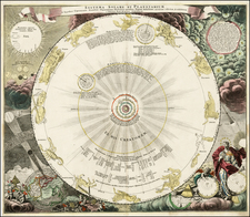 World, Celestial Maps and Curiosities Map By Johann Gabriele Doppelmayr