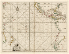 North America, Central America, South America, Australia & Oceania, Pacific, Australia, New Zealand, Other Pacific Islands, California and America Map By Samuel Thornton