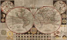 World, World and Celestial Maps Map By Henry Overton