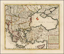 Balkans, Greece, Balearic Islands and Turkey & Asia Minor Map By Giambattista Albrizzi