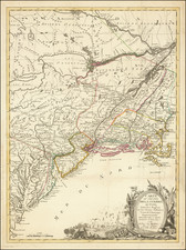 United States, New England and Mid-Atlantic Map By J.B. Eliot / Louis Joseph Mondhare