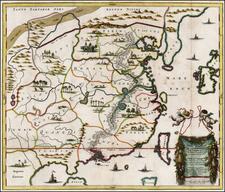 China and Korea Map By Johan Nieuhof