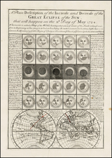 World and Celestial Maps Map By Emanuel Bowen / Thomas Bowles