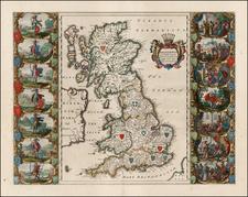 British Isles Map By Willem Janszoon Blaeu