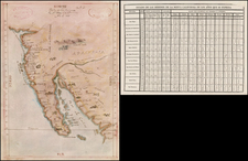Southwest, Baja California and California Map By Anonymous