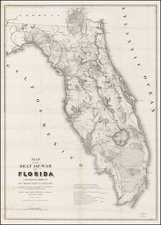 Florida Map By United States Bureau of Topographical Engineers