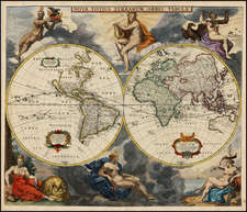 World and World Map By Frederick De Wit / Arnold Colom