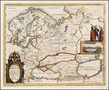 Poland, Russia, Ukraine, Baltic Countries, Central Asia & Caucasus and Russia in Asia Map By Matthaus Merian