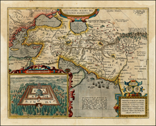 Greece, Turkey, Mediterranean, Asia, Central Asia & Caucasus, Middle East and Turkey & Asia Minor Map By Abraham Ortelius