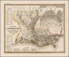 South and Louisiana Map By Joseph Meyer  &  Carl Radefeld