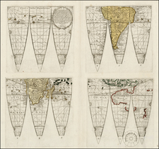 World and World Map By Georg Christoph Eimmart