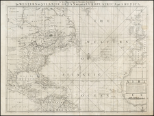 Atlantic Ocean, United States and North America Map By William Herbert
