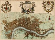 British Isles Map By John Strype