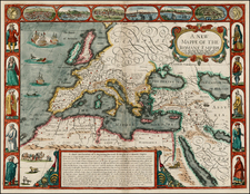 Europe, Europe, Italy, Turkey, Mediterranean and Turkey & Asia Minor Map By John Speed