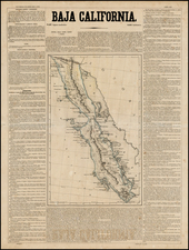 Mexico and Baja California Map By Antonio Garcia y Cubas