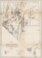 Southwest and California Map By U.S. General Land Office