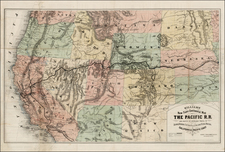 Plains, Southwest, Rocky Mountains and California Map By Henry T. Williams