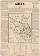 Southwest and Mexico Map By Antonio Garcia y Cubas