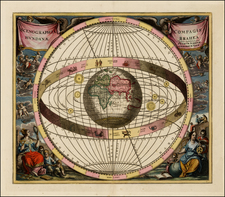 World, Eastern Hemisphere, Celestial Maps and Curiosities Map By Andreas Cellarius  &  Gerard & Leonard Valk