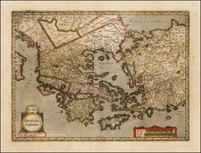 Greece, Turkey, Balearic Islands and Turkey & Asia Minor Map By  Gerard Mercator