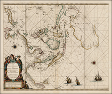 Indian Ocean, China, Japan, Southeast Asia and Australia Map By Pieter Goos
