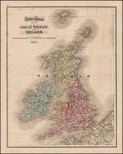 British Isles Map By O.W. Gray
