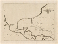 United States, Florida, South, Southeast and Mexico Map By Antonio de Herrera y Tordesillas