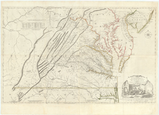 A Map of the most Inhabited part of Virginia containing the whole Province of Maryland . . .   Drawn by Joshua Fry & Peter Jefferson in 1775 By Joshua Fry  &  Peter Jefferson
