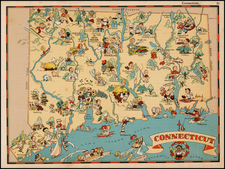 New England Map By Ruth Taylor White