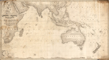 Indian Ocean, China, India, Southeast Asia, Philippines, Other Islands, Australia and New Zealand Map By Charles Wilson