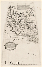 Texas, Southwest, Rocky Mountains, Mexico, Baja California and California Map By Vincenzo Maria Coronelli