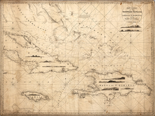 Caribbean Map By John William Norie