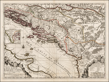 Balkans, Bosnia & Herzegovina and Italy Map By Jean-Baptiste Nolin